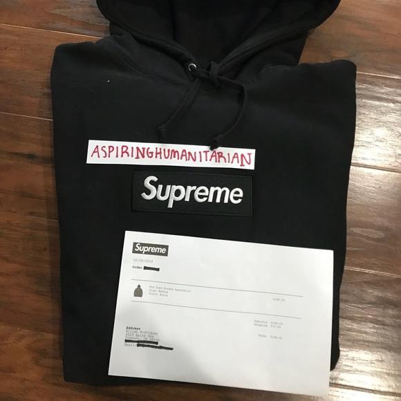 05821cd93 Supreme Jackets & Coats | Sold Black Box Logo Fw16 Hoodie W Receipt ...